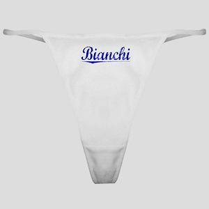Bianchi, Blue, Aged Classic Thong
