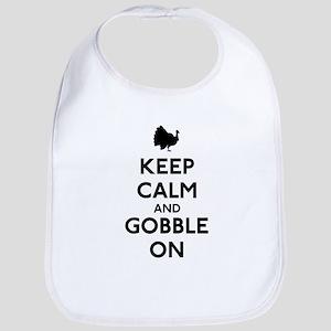 Keep Calm & Gobble On Bib