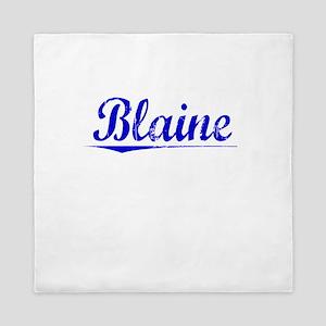 Blaine, Blue, Aged Queen Duvet