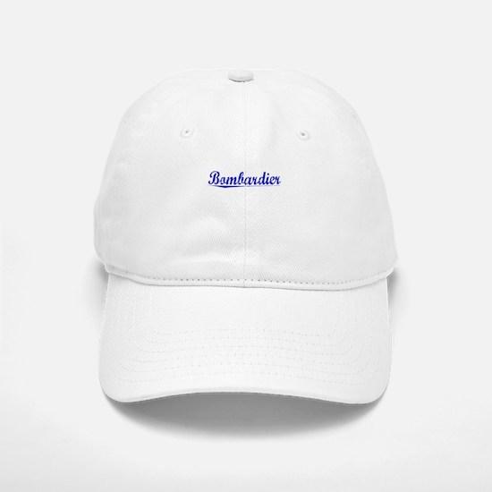 Bombardier, Blue, Aged Baseball Baseball Cap