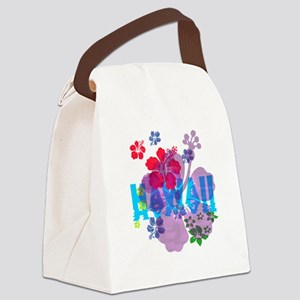 Hawaii Hibiscus Canvas Lunch Bag