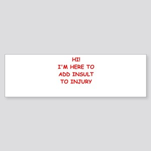 INSULT Sticker (Bumper)