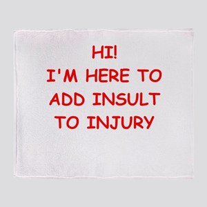 INSULT Throw Blanket