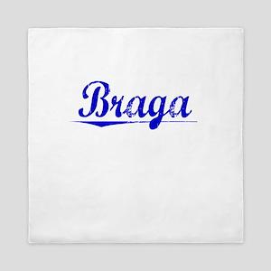 Braga, Blue, Aged Queen Duvet