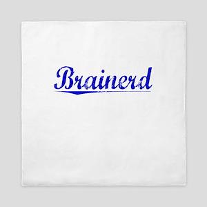 Brainerd, Blue, Aged Queen Duvet