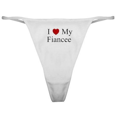 I (heart) My Fiancee Classic Thong