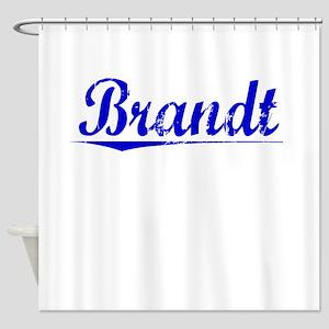 Brandt, Blue, Aged Shower Curtain