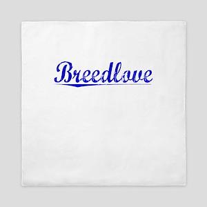 Breedlove, Blue, Aged Queen Duvet