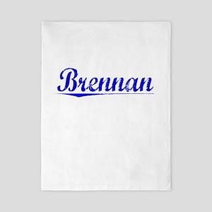 Brennan, Blue, Aged Twin Duvet