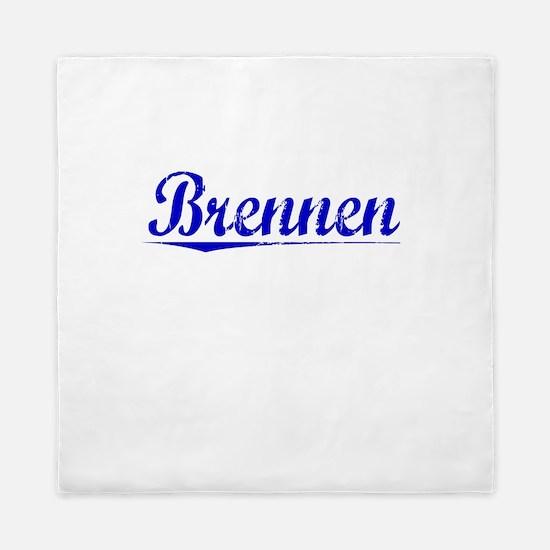 Brennen, Blue, Aged Queen Duvet