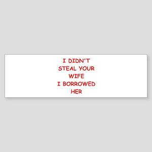 WIFE2 Sticker (Bumper)