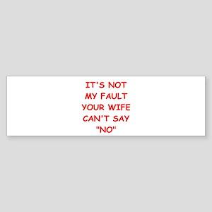 WIFE Sticker (Bumper)