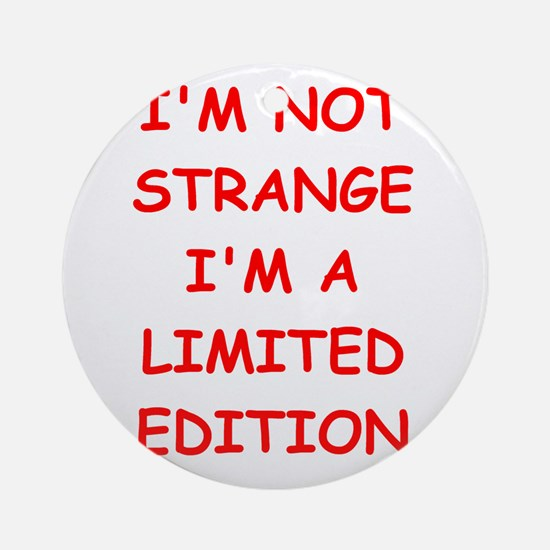 STRANGE.png Ornament (Round)