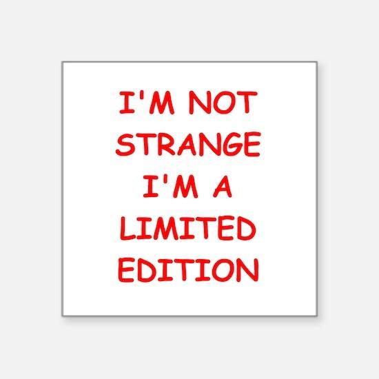 "STRANGE.png Square Sticker 3"" x 3"""