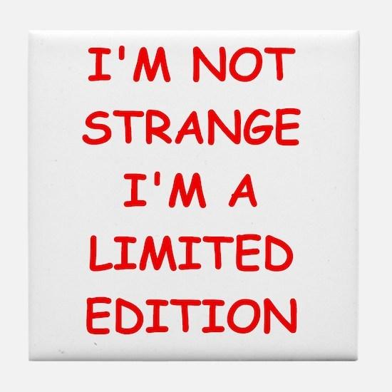 STRANGE.png Tile Coaster