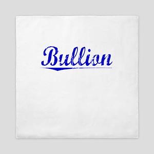 Bullion, Blue, Aged Queen Duvet
