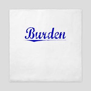 Burden, Blue, Aged Queen Duvet