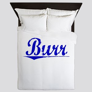 Burr, Blue, Aged Queen Duvet