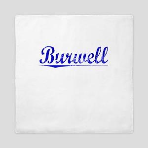 Burwell, Blue, Aged Queen Duvet