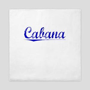 Cabana, Blue, Aged Queen Duvet