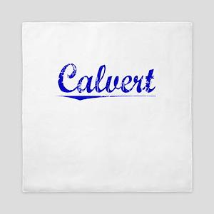 Calvert, Blue, Aged Queen Duvet