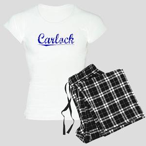 Carlock, Blue, Aged Women's Light Pajamas