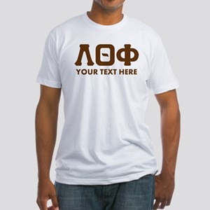 Lambda Theta Phi Letters Personaliz Fitted T-Shirt