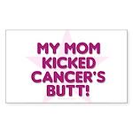 mom kicked cancer Rectangle Sticker