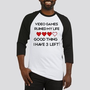 Video games ruined my life Baseball Jersey