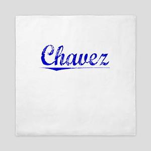 Chavez, Blue, Aged Queen Duvet