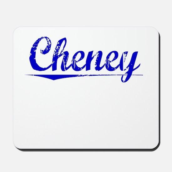 Cheney, Blue, Aged Mousepad