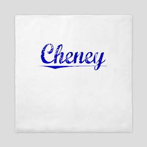 Cheney, Blue, Aged Queen Duvet