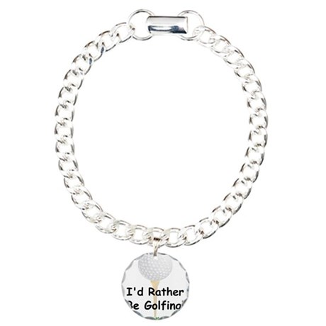 golfball large Id rather be golfing.png Charm Brac