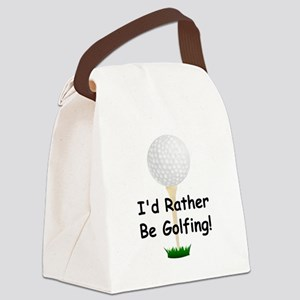 golfball large Id rather be golfing Canvas Lun