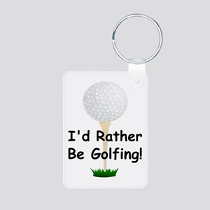 golfball large Id rather be golfing Aluminum P