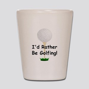 golfball large Id rather be golfing Shot Glass
