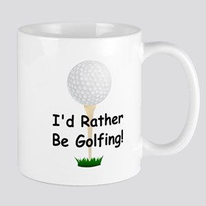 golfball large Id rather be golfing Mug
