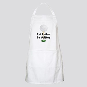 golfball large Id rather be golfing Apron