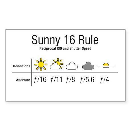 Sunny 16 Rule Sticker (Rectangle)