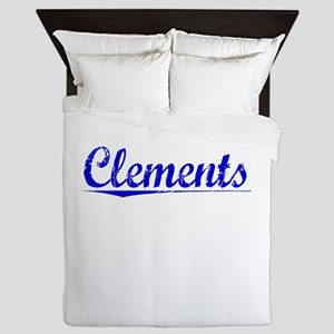 Clements, Blue, Aged Queen Duvet