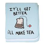 Ill Make Tea baby blanket