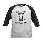 Ill Make Tea Kids Baseball Jersey