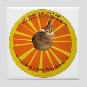 Cat Gods Tile Coaster