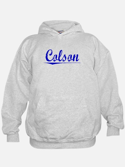 Colson, Blue, Aged Hoodie