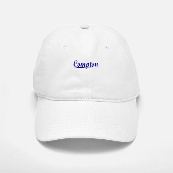 Compton, Blue, Aged Baseball Baseball Cap