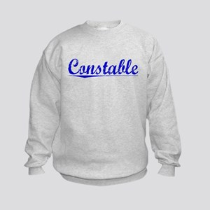 Constable, Blue, Aged Kids Sweatshirt