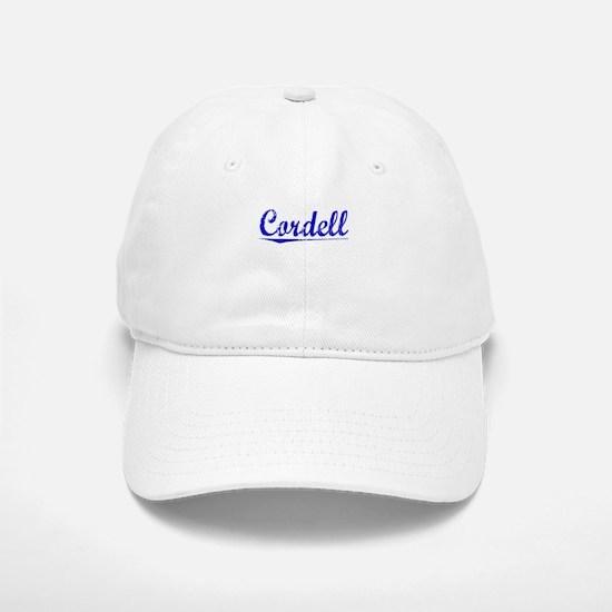 Cordell, Blue, Aged Baseball Baseball Cap