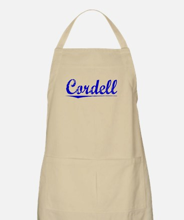 Cordell, Blue, Aged Apron