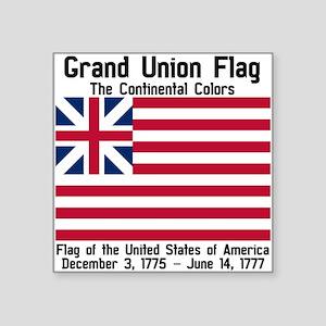 "Grand Union Flag Square Sticker 3"" x 3"""