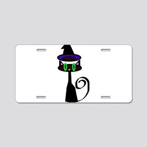 Witchy little cat Aluminum License Plate